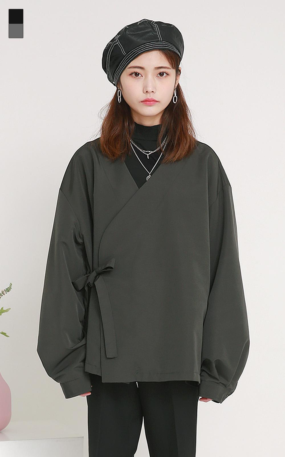 벌룬 유카타 셔츠